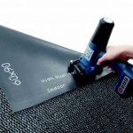 Teppichrückseite aus Gummi bedrucken mit Handjet